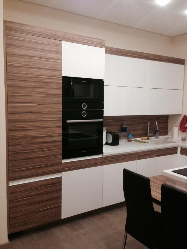 Virtuvės baldai su koreano stalviršiu