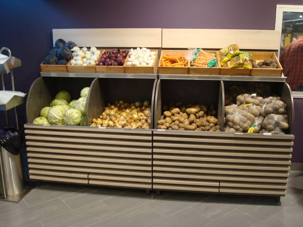 Prekybinė įranga bulvėms (IKI)