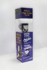 Prekybinis stendas Milka prekės ženklui
