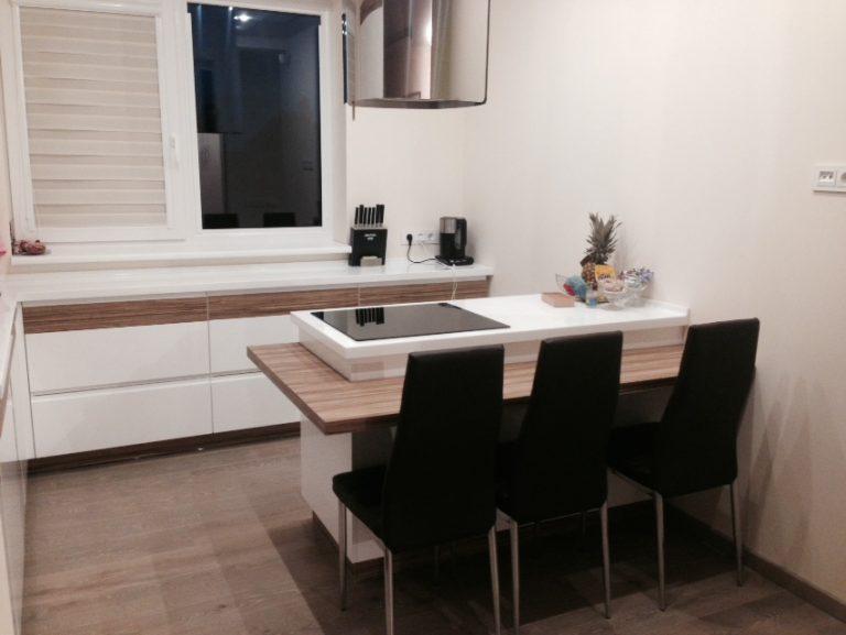 Virtuvės sala su coreano stalviršiu